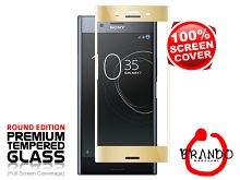 Brando Workshop Full Screen Coverage Glass Protector (Sony Xperia XZ Premium) - Gold