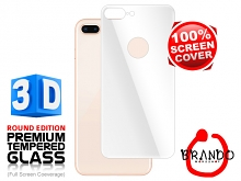 Brando Workshop Full Screen Coverage Curved 3D Glass Protector (iPhone 8 Plus Back Cover) - White