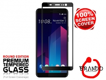 Brando Workshop Full Screen Coverage Glass Protector (HTC U11+) - Black