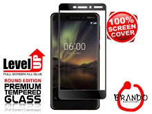Brando Workshop Full Screen Coverage Glass Protector (Nokia 6 (2018)) - Black