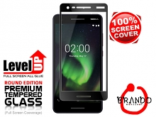 Brando Workshop Full Screen Coverage Glass Protector (Nokia 2.1) - Black