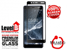 Brando Workshop Full Screen Coverage Glass Protector (Nokia 5.1) - Black