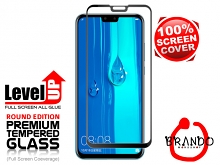 Brando Workshop Full Screen Coverage Glass Protector (Huawei Y9 (2019)) - Black