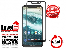 Brando Workshop Full Screen Coverage Glass Protector (Motorola One Power (P30 Note)) - Black