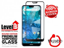 Brando Workshop Full Screen Coverage Glass Protector (Nokia 7.1) - Black