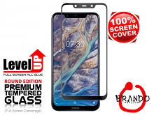 Brando Workshop Full Screen Coverage Glass Protector (Nokia 7.1 Plus (Nokia X7)) - Black