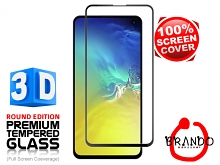 Brando Workshop Full Screen Coverage Curved 3D Glass Protector (Samsung Galaxy S10e) - Black