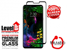 Brando Workshop Full Screen Coverage Glass Protector (LG G8 ThinQ) - Black