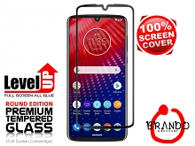 Brando Workshop Full Screen Coverage Glass Protector (Motorola Moto Z4) - Black
