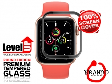 Brando Workshop Full Screen Coverage Glass Protector (Apple Watch SE) - Black