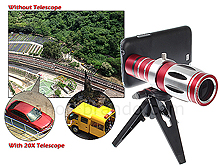 Samsung Galaxy Note II Super Spy Ultra High Power Zoom 20X Telescope with Tripod Stand