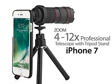 Professional iPhone 7 4-12x Zoom Telescope with Tripod Stand