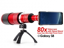 Samsung Galaxy S8 Super Spy Ultra High Power Zoom 80X Telescope with Tripod Stand