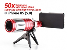 iPhone XS (5.8) Super Spy Ultra High Power Zoom 50X Telescope with Tripod Stand
