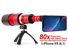 iPhone XR (6.1) Super Spy Ultra High Power Zoom 80X Telescope with Tripod Stand