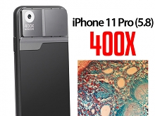 iPhone 11 Pro (5.8) 400X UltraClear Magnifying Microscope with Back Cover and Brightness LED