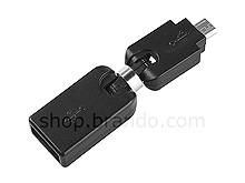 360°x 360° USB A Female to Micro-B Male Adapter