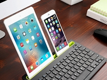 Mini Dual-Connect Bluetooth Keyboard with Stand