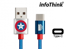 infoThink Captain America Type-C USB Sync Charging Cable