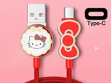 Hello Kitty Bow Type-C USB Cable