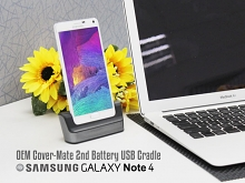 OEM Samsung Galaxy Note 4 Cover-Mate 2nd Battery USB Cradle