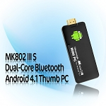 MK802 IIIS Dual-Core Bluetooth Android 4.1 Thumb PC