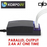 KORPOW 48W 4-Port USB Power Adapter (9.6A)