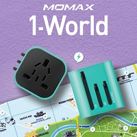 Momax 1-World Mini AC Travel Adapter