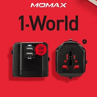 Momax 1-World USB AC Travel Adapter