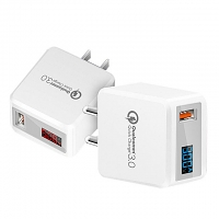 QC3.0 Fast USB AC Charger with Display