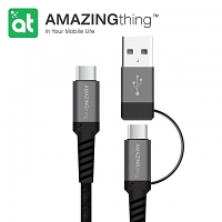 AMAZINGthing Supreme Link 2-In-1 Type-C Cable