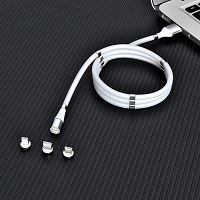 3-in-1 Magnetic Easy Coil Charging Cable