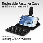 Samsung Galaxy S III I9300 Reclosable Fastener Case with Bluetooth Keyboard