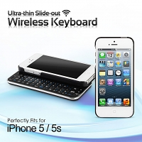 iPhone 5 / 5s / SE Ultra-thin Slide-out Wireless Backlight Keyboard