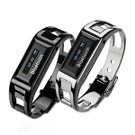LCD Bluetooth Vibrating Bracelet + Watch (Alloy Steel)