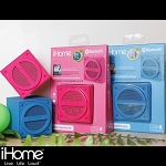 iHome BOOM Series - Bluetooth Wireless Rechargeable Mini Speaker Cube in Rubberized Finish