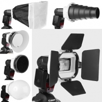 6-in-1 Flash Gun Accessories Kit (K8)