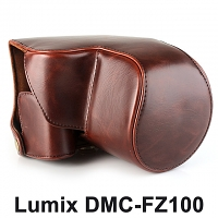 Panasonic Lumix DMC-FZ1000  Premium Protective Leather Case with Leather Strap