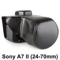 Sony A7 II (24-70mm) Premium Protective Leather Case with Leather Strap