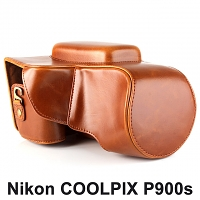 Nikon COOLPIX P900s Leather Camera Case with Flash Cover