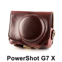 Canon PowerShot G7X Premium Protective Leather Case with Leather Strap