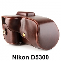 Nikon D5300 Leather Camera Case with Flash Cover