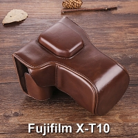 Fujifilm X-T10 Premium Protective Leather Case with Leather Strap
