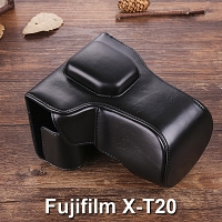 Fujifilm X-T20 Premium Protective Leather Case with Leather Strap