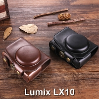 Panasonic Lumix LX10 Premium Protective Leather Case with Leather Strap