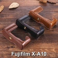 Fujifilm X-A10 Half-Body Leather Case Base