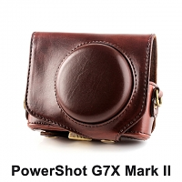 Canon PowerShot G7X Mark II Premium Protective Leather Case with Leather Strap