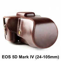 Canon EOS 5D Mark IV (24-105mm) Leather Camera Case with Flash Cover