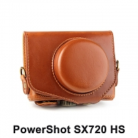 Canon PowerShot SX720 HS Premium Protective Leather Case with Leather Strap