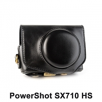 Canon PowerShot SX710 HS Premium Protective Leather Case with Leather Strap